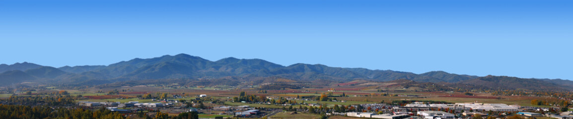 Panorama of Medford Oregon West Side