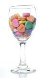 Conversation Hearts in a Wine Glass poster