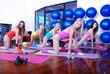 teamwork in fitness studio