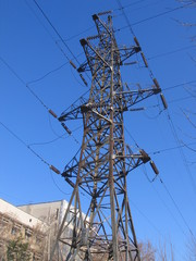 Overhead line support