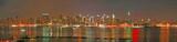 Manhattan panaroma skyline at Christmas Eve-