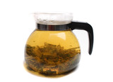 herbal tea in the teapot on the white background poster