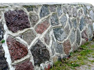 verfugte natursteinmauer
