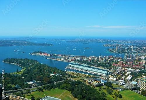 canvas print picture Sydney - Bucht von oben