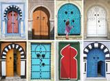 mosaic of arabic doors - tunisia - north africa