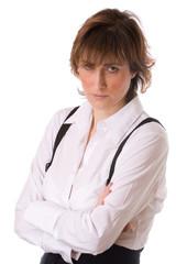 Femme au bureau en colère