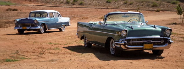Pair of Chevrolet BelAir 1956 1957