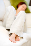 Woman relaxing poster