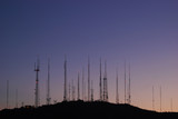telecommunications towers  poster