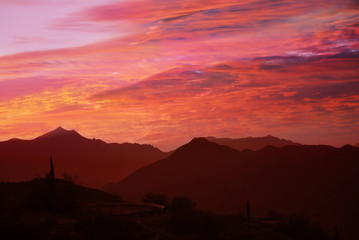 Phoenix, Arizona, sunset