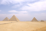 The Giza pyramid complex near Cairo, Egypt. poster