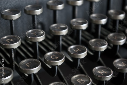 Antique Typewriter Keys