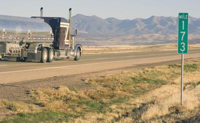 Semi Truck by Mile 173
