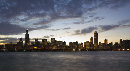 Panorama of Downtown Chicago
