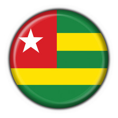 Togo button flag round shape