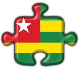 Togo button flag puzzle shape