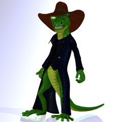 Reptile extraordinary situations.Image contains a Clipping Path