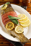 Fototapety Bacon wrapped trout