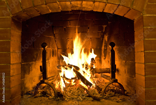 camino/fire place