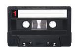 Fototapety Retro audio cassette isolated on white background