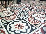 Milan Italie, sol en mosaique de la cathédrale du Duomo poster