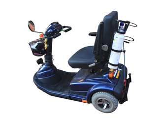 electric scooter for people with limited mobility, isolated