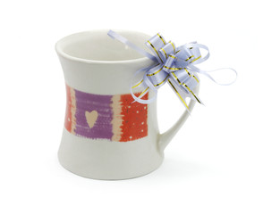 valentine gift mug on white background