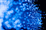 fiber optics close-up, focal point on distant fibres poster