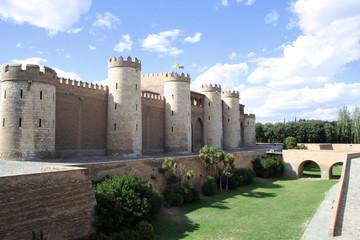 The Aljaferia  palace in Zaragoza, Spain. 11th century Islamic.