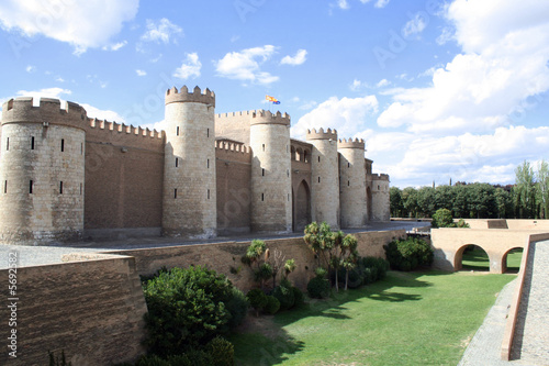 The Aljaferia  palace in Zaragoza, Spain. 11th century Islamic.