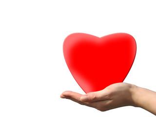 Herz auf der Hand