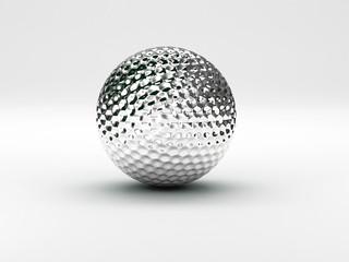 palla da golf argento