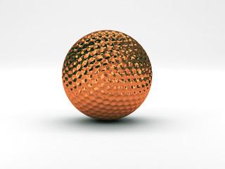 palla da golf bronzo