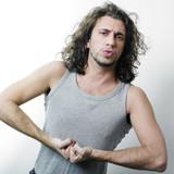 Flexing Adult Man poster