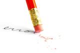 """Pencil erasing an """"error"""""""