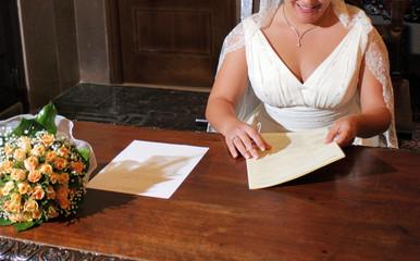 Firma despues de la boda