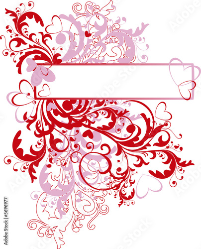 ornamental valentine background with space for text - vector