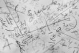 handwritten mathematical formulas poster