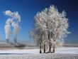 Atomkraftwerk im Winter