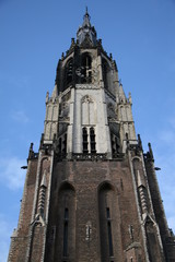 Tower of the New Church in Delft, Netherlands