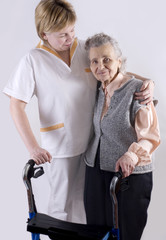 Healthcare worker and senior