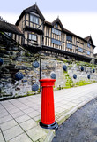A victorian postbox and the Lord leycester hospital  poster