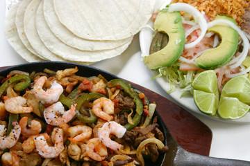Shrimp Fajitas Plate