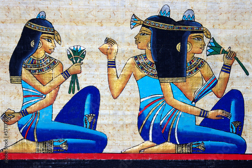 Plexiglas Egypte beautiful egyptian papyrus