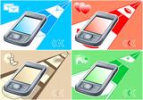 vector illustration of multimedia gadget for all modern needs poster