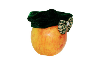 apple in  hat