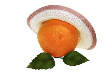 orange in feminine hat