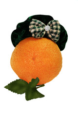 orange in  hat