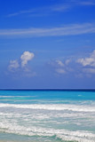 The turquoise waters of Cancun on the Yucatan Peninsula poster