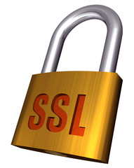 A padlock depicting internet security by SSL
